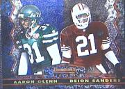 1994 Stadium Club Bowman's Best #18 Deion Sanders/A.Glenn