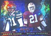 1994 Stadium Club Bowman's Best Refractors #18 Deion Sanders/A.Glenn