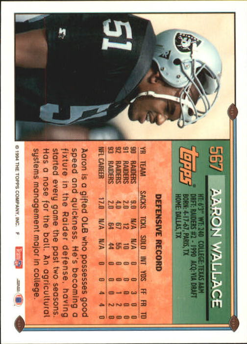 1994 Topps #567 Aaron Wallace