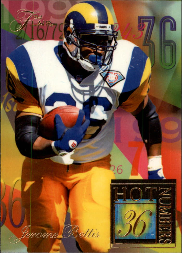 1994 Ultra Flair Hot Numbers #2 Jerome Bettis