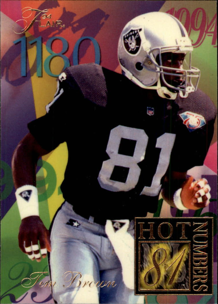 1994 Ultra Flair Hot Numbers #3 Tim Brown
