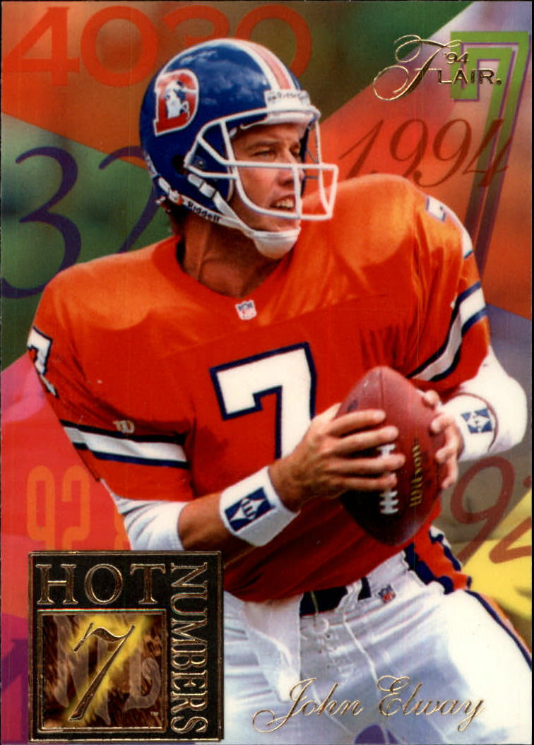 1994 Ultra Flair Hot Numbers #4 John Elway
