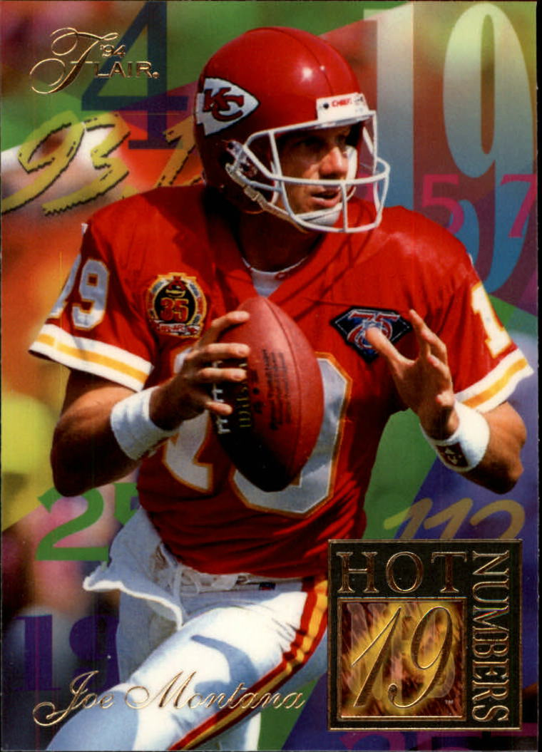 1994 Ultra Flair Hot Numbers #8 Joe Montana front image