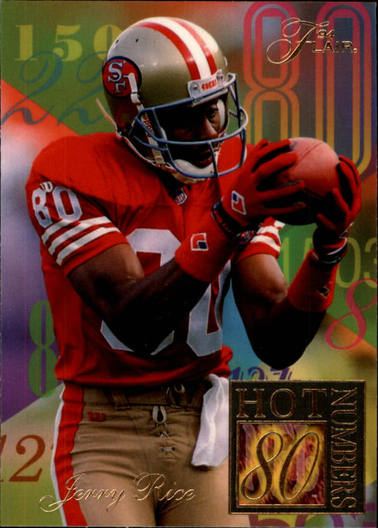 1994 Ultra Flair Hot Numbers #9 Jerry Rice