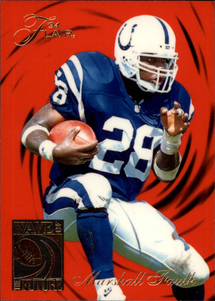 1994 Ultra Flair Wave of the Future #2 Marshall Faulk