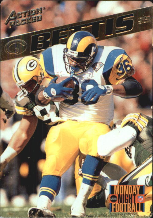 1995 Action Packed Monday Night Football #4 Jerome Bettis
