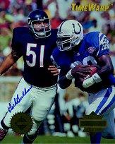 1995 Collector's Edge TimeWarp Jumbos Autographs #29 Dick Butkus AUTO/Marshall Faulk