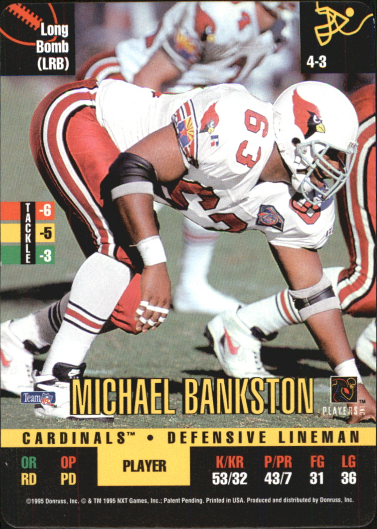 1995 Donruss Red Zone #1 Michael Bankston