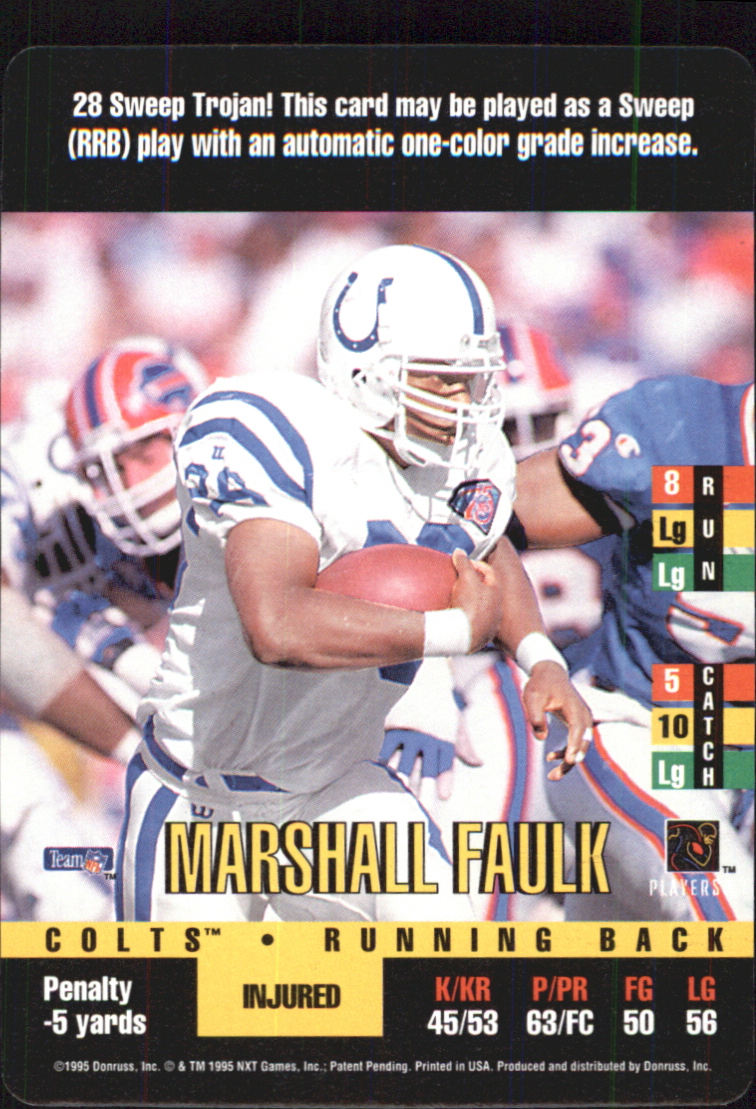 1995 Donruss Red Zone #132 Marshall Faulk SP