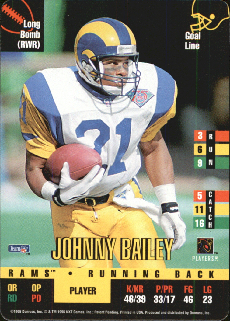 1995 Donruss Red Zone #303 Johnny Bailey