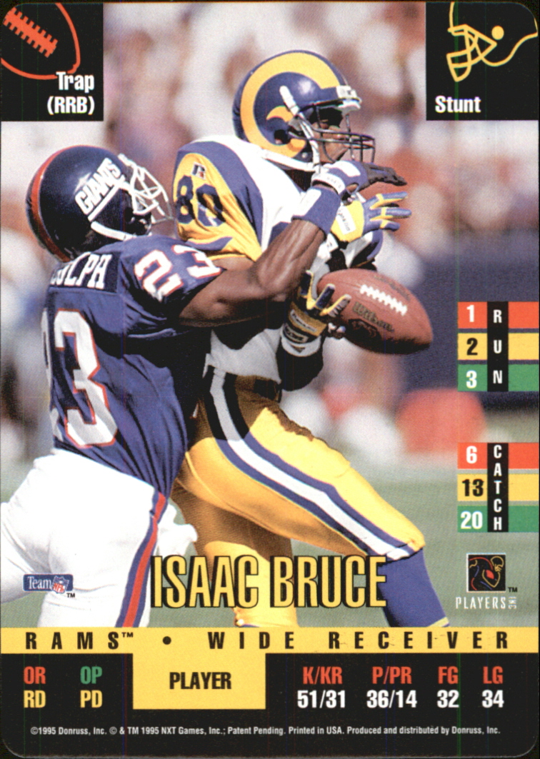 1995 Donruss Red Zone #304 Isaac Bruce DP