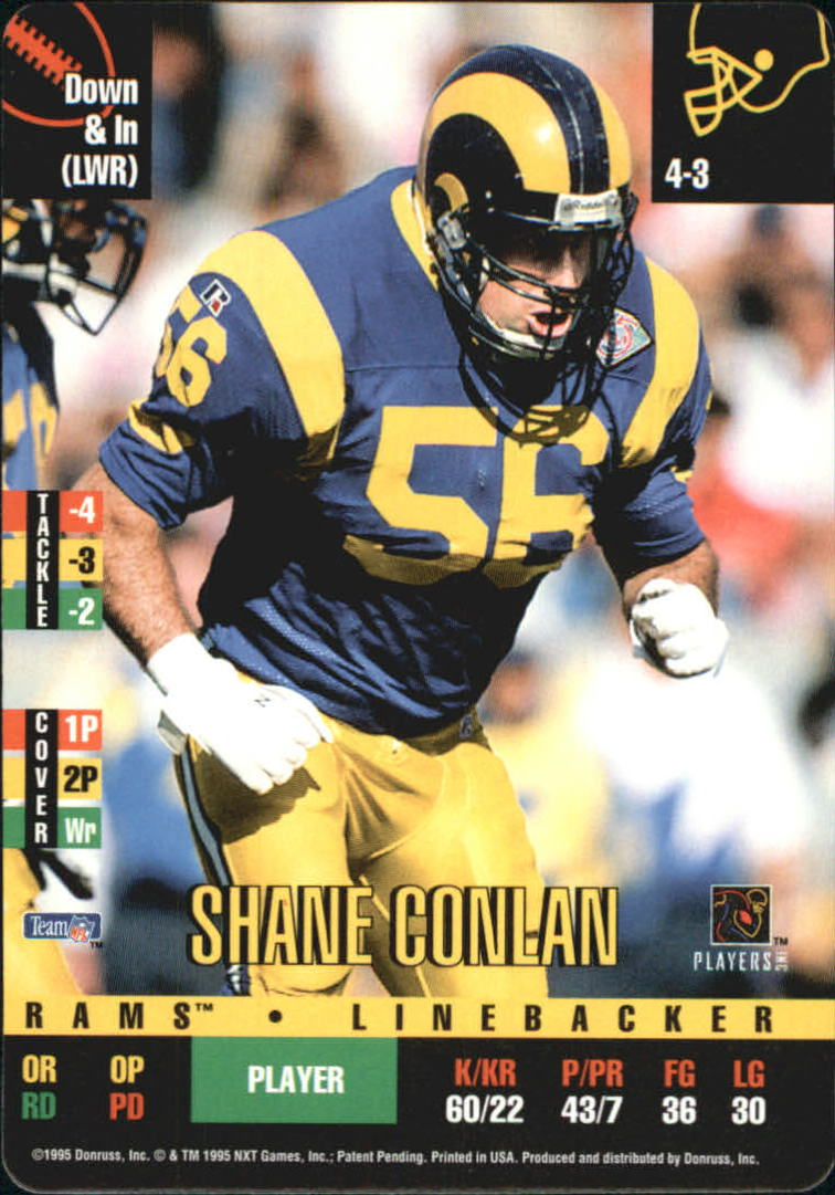 1995 Donruss Red Zone #305 Shane Conlan DP