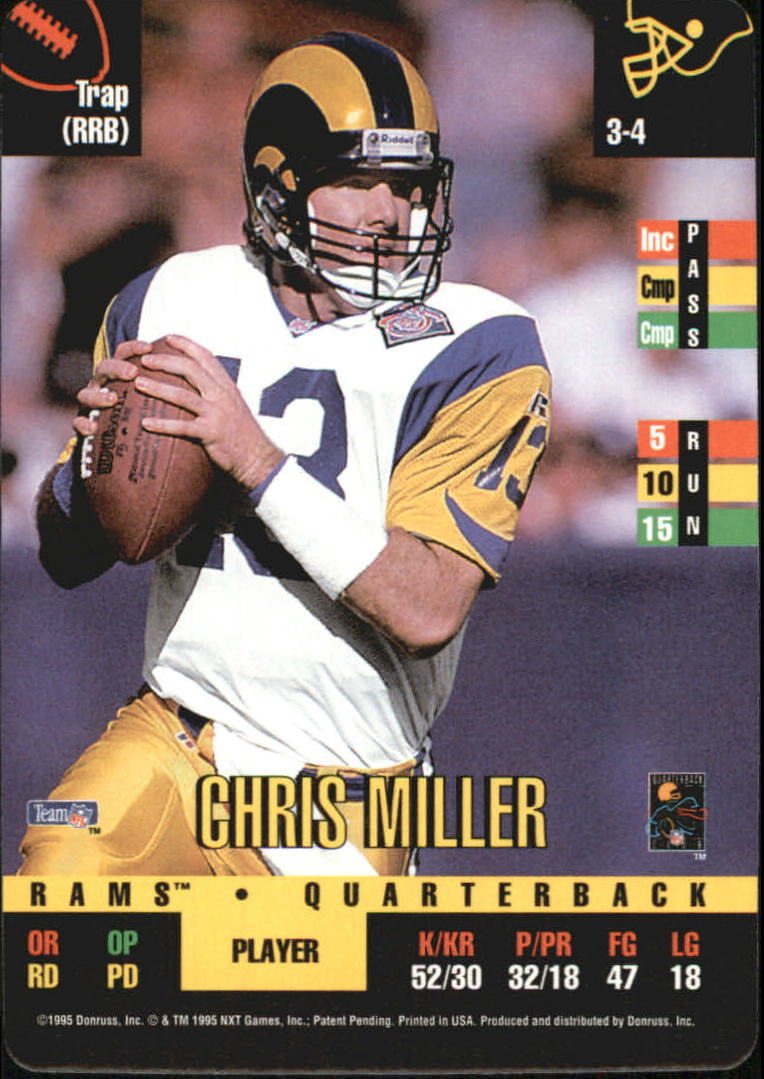 1995 Donruss Red Zone #312 Chris Miller DP