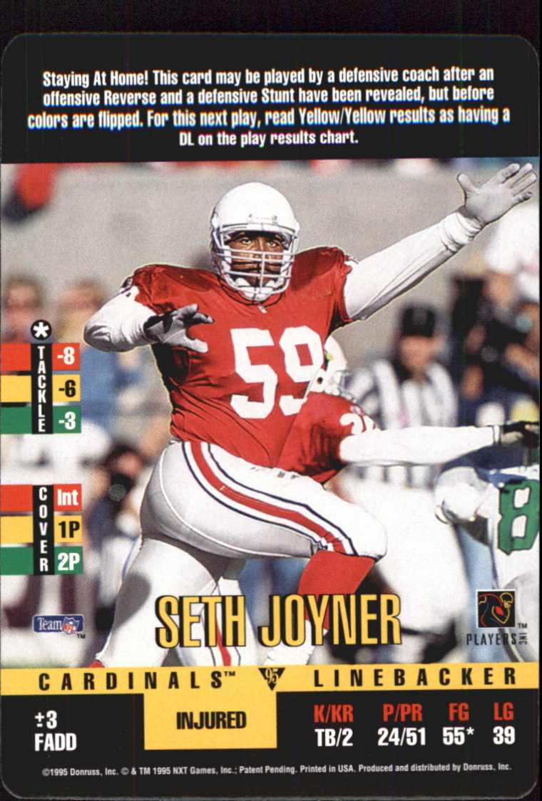 1995 Donruss Red Zone Update #1 Seth Joyner SP