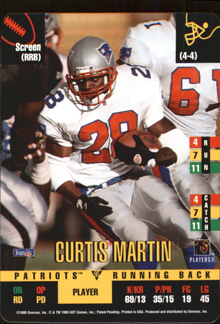 1995 Donruss Red Zone Update #65 Curtis Martin