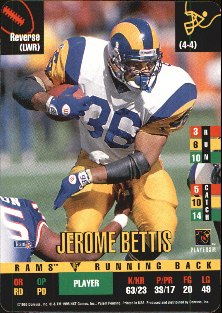 1995 Donruss Red Zone Update #89 Jerome Bettis