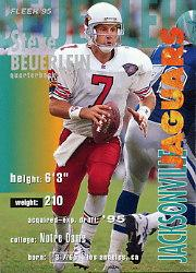 1995 FACT Fleer Shell #15 Steve Beuerlein