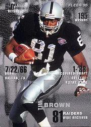 1995 FACT Fleer Shell #17 Tim Brown