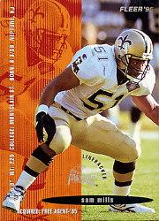 1995 FACT Fleer Shell #36 Sam Mills
