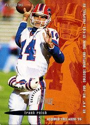 1995 FACT Fleer Shell #68 Frank Reich