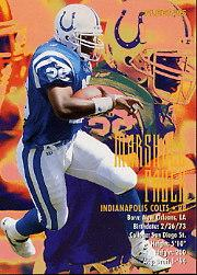 1995 FACT Fleer Shell #78 Marshall Faulk