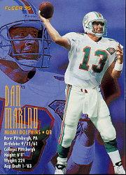 1995 FACT Fleer Shell #82 Dan Marino