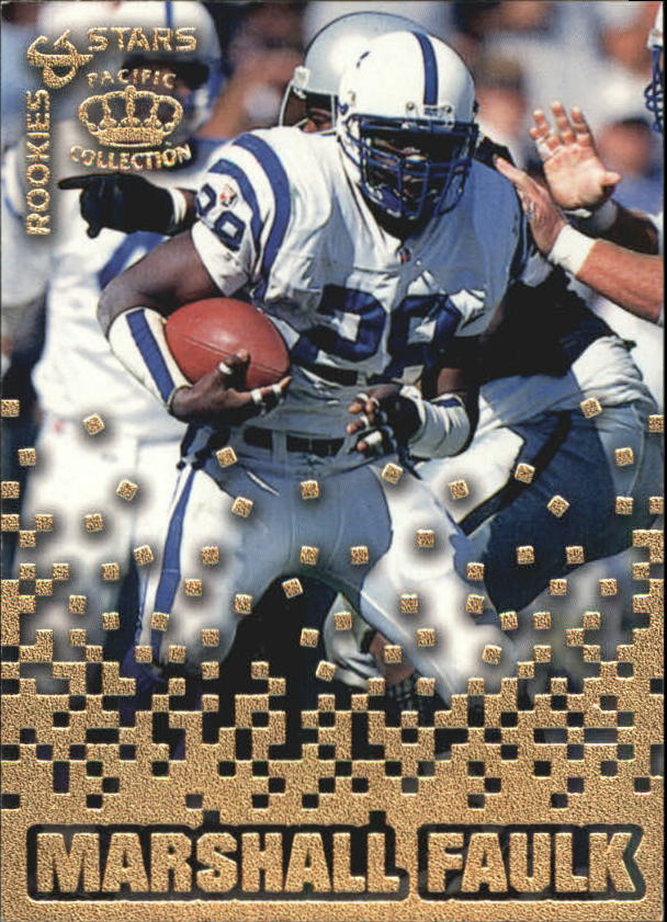 1995 Pacific Triple Folders Rookies and Stars #RS16 Marshall Faulk