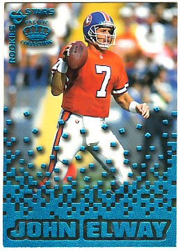 1995 Pacific Triple Folders Rookies and Stars Blue #13 John Elway