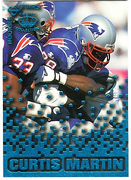 1995 Pacific Triple Folders Rookies and Stars Blue #22 Curtis Martin