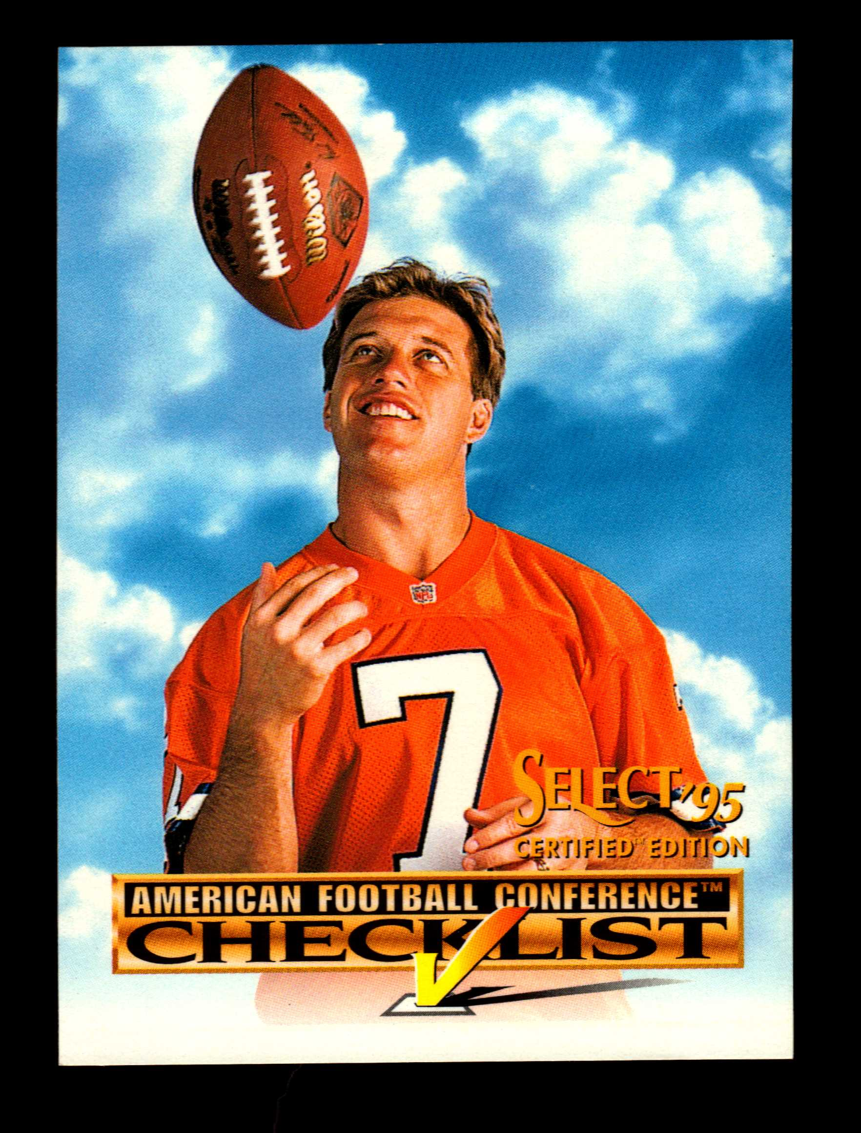 1995 Select Certified Checklists #2 John Elway