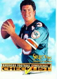 1995 Select Certified Checklists #3 Dan Marino