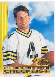 1995 Select Certified Checklists #4 Brett Favre