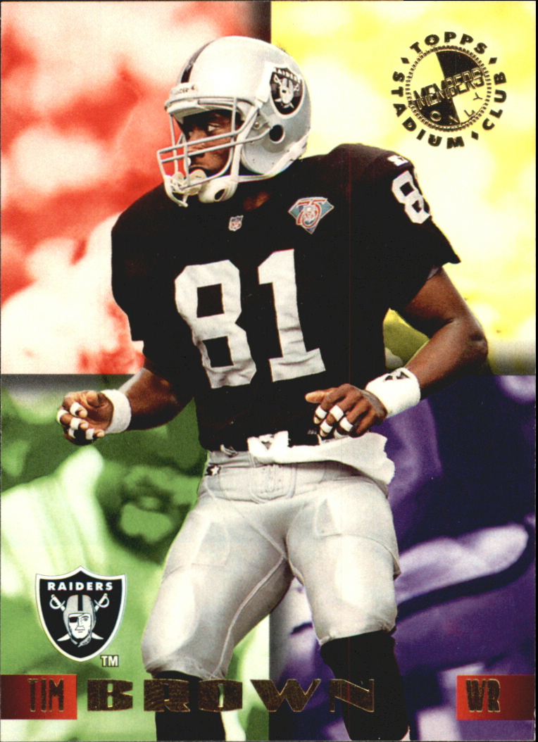 1995 Stadium Club Members Only 50 #1 Tim Brown/Oakland Raiders