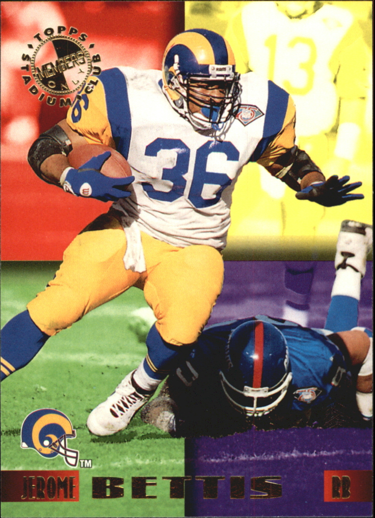 1995 Stadium Club Members Only 50 #33 Jerome Bettis/Los Angeles Rams