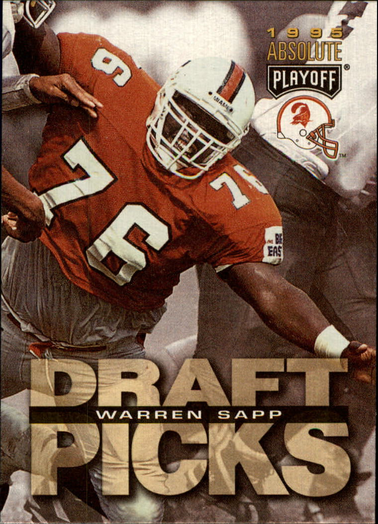 1995 Absolute #190 Warren Sapp RC