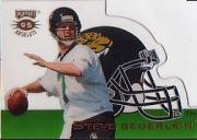1995 Absolute Die Cut Helmets #27 Steve Beuerlein Jaguars