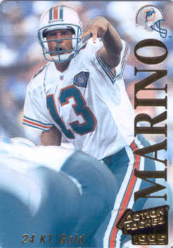 1995 Action Packed 24K Gold #13G Dan Marino front image
