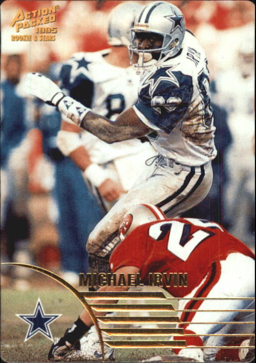 1995 Action Packed Rookies/Stars #17 Michael Irvin