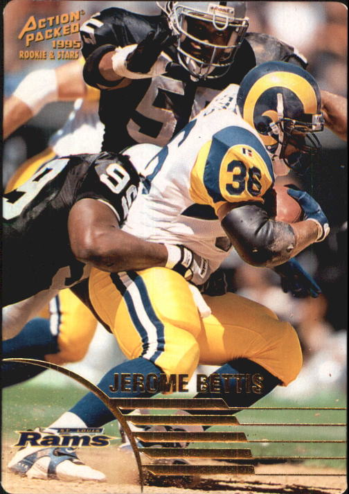 1995 Action Packed Rookies/Stars #75 Jerome Bettis