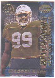 1995 Bowman's Best Mirror Images Draft Picks #12 A.Glenn/W.Sapp