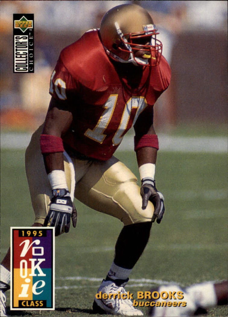 1995 Collector's Choice #21 Derrick Brooks RC