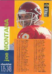 1995 Collector's Choice #348 Joe Montana CL