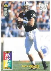 1995 Collector's Choice Player's Club #5 Kerry Collins