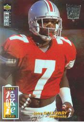 1995 Collector's Choice Player's Club Platinum #8 Joey Galloway