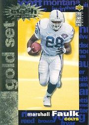 1995 Collector's Choice Crash The Game Gold Redemption #C19 Marshall Faulk
