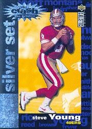 1995 Collector's Choice Crash The Game Silver Redemption #C5 Steve Young