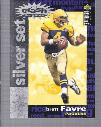 1995 Collector's Choice Crash The Game Silver Redemption #C6 Brett Favre