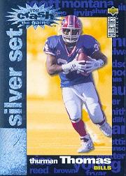 1995 Collector's Choice Crash The Game Silver Redemption #C13 Thurman Thomas