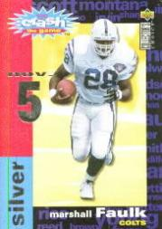 1995 Collector's Choice Crash The Game Silver Redemption #C19 Marshall Faulk