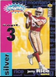 1995 Collector's Choice Crash The Game Silver Redemption #C22 Jerry Rice